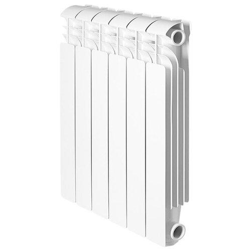 Радиатор секционный алюминий Global ISEO 500 x10 теплоотдача 1150 Вт, подключение универсальное боковое RAL 9010