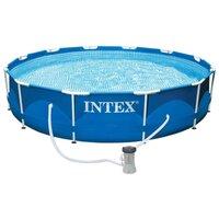 Каркасный бассейн Intex 28212NP Metal Frame Pool (366 х 76 см) + фильтрующий картриджный насос