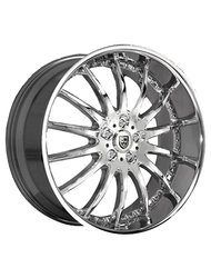 Lexani 8,5x20/5x112 ET32 D74,1 LX14 Black/Machined/Chrome Lip - фото 1