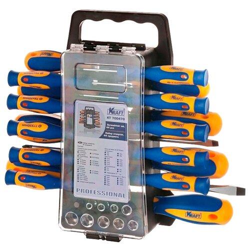 Набор инструментов KRAFT (44 предм.) KT 700470 набор инструментов kraft professional с сумкой 23 предметов