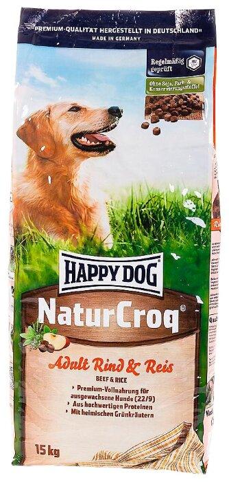 Корм для собак Happy Dog NaturCroq Rind&Reis (говядина с рисом)