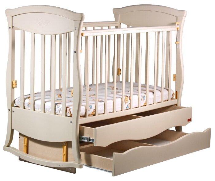 Кроватка Ласка-М Грация (маятник + 2 ящика)