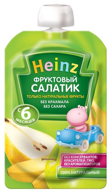 Пюре Heinz Фруктовый салатик (с 6 месяцев) 100 г, 1 шт