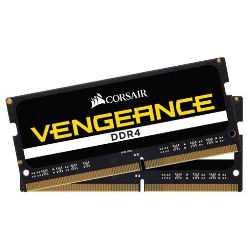 Купить Оперативная память Corsair DDR4 2400 (PC 19200) SODIMM 260 pin, 8 ГБ 2 шт. 1.2 В, CL 16, CMSX16GX4M2A2400C16