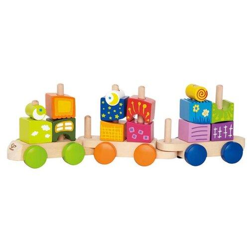 Купить Каталка-игрушка Hape Fantasia Blocks Train (E0417) бежевый/зеленый/оранжевый, Каталки и качалки