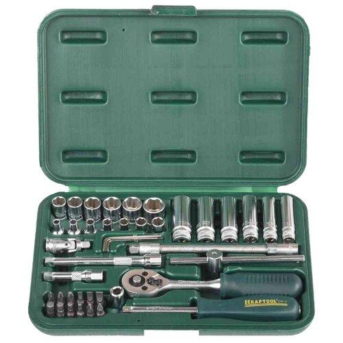 Набор автомобильных инструментов Kraftool (42 предм.) 27885-H42_z02 зеленый