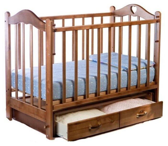 Кроватка Ведрусс Лана 3 (маятник, сердечко)