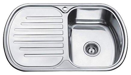 Врезная кухонная мойка Ledeme L67749-R 77х49см нержавеющая сталь