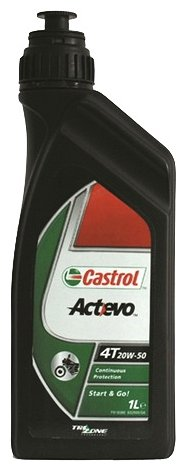 Моторное масло Castrol Act>Evo 4T 20W-50 1 л