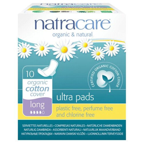 Natracare прокладки Long Ultra Pads 10 шт.