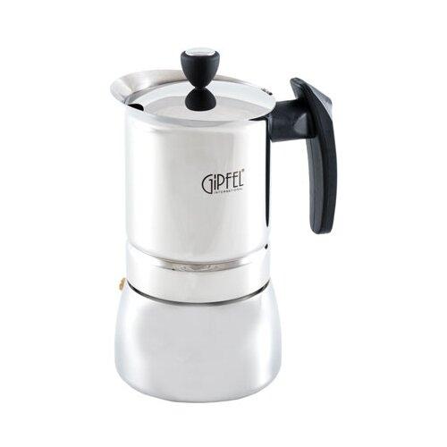 Гейзерная кофеварка GIPFEL Vals 5329 300 мл, серебристый