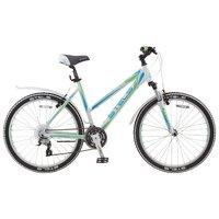 """Велосипед Для Взрослых Stels Miss 6500 V 26 (2016) 17.5"""" Белый/салатовый/голубой"""