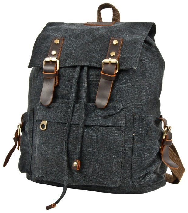 Рюкзак Polar П3062-05 брезент Черный 17,2 л