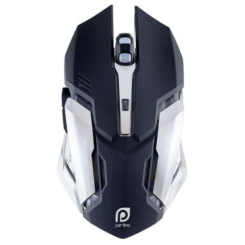 цена на Мышь Perfeo PF-1709-GM SHOOTER Black USB черно-серебристый