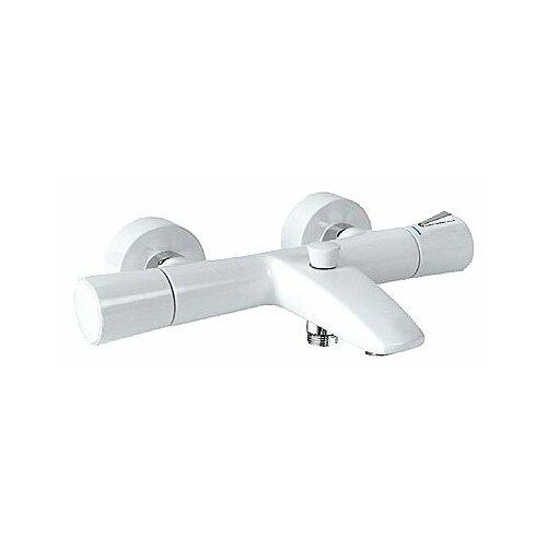 Смеситель для ванны с душем KLUDI Zenta 35101 двухрычажный с термостатом двухцветный белый смеситель с термостатом белый kludi zenta 351019138