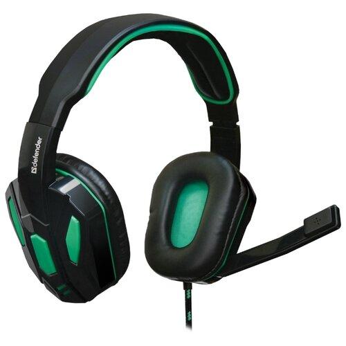 Компьютерная гарнитура Defender Warhead G-275 черный/зеленый гарнитура defender siren черный красный
