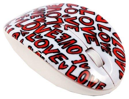 Мышь Bodino LOVE White-Red USB