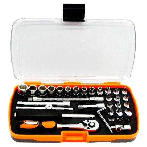 Фото - Набор автомобильных инструментов Partner (35 предм.) PA-6035 черный/оранжевый набор инструментов sparta 6 предм 13540 черный оранжевый
