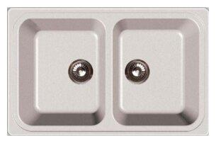 Врезная кухонная мойка GranFest Standart GF-S780K 78х51см искусственный мрамор