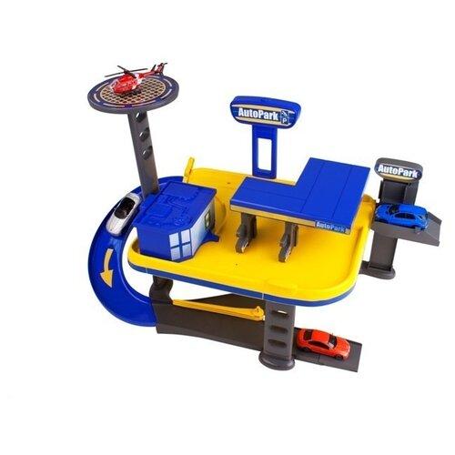 Купить HTI Гараж 2-х уровневый гараж Teamsterz: Mechanics Garage 1415943 синий/желтый, Детские парковки и гаражи
