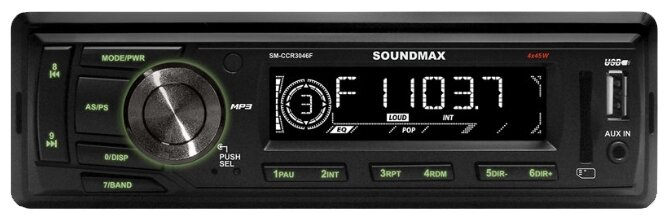 SoundMAX SM-CCR3046F  черный