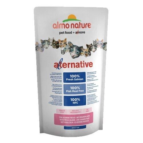 Корм для кошек Almo Nature Alternative при чувствительном пищеварении, с лососем и с рисом 750 г