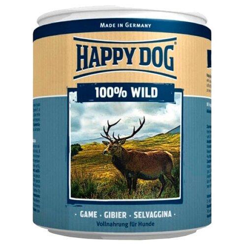 Влажный корм для собак Happy Dog 100% Мясо Фермерский продукт, дичь 400 г