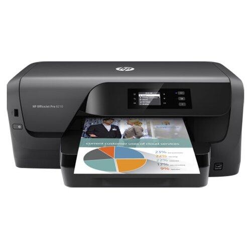 Фото - Принтер HP OfficeJet Pro 8210, черный принтер струйный hp officejet pro 6230 черный [e3e03a]