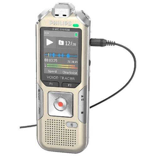 Диктофон Philips DVT8010 серебристый/золотистый