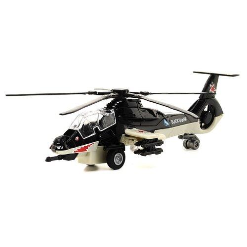 Вертолет ТЕХНОПАРК Черная акула (CT12-465) 1:43 черный/бежевый