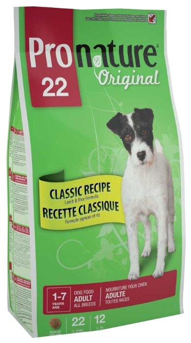 Корм для собак ProNature 22 Classic Recipe Lamb & Rice Formula для взрослых собак всех пород