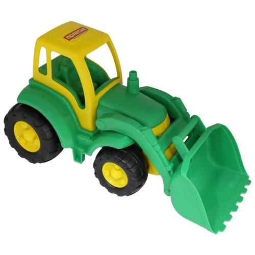 Купить Трактор Полесье Чемпион с ковшом (0476) 48 см зеленый/желтый, Машинки и техника