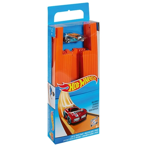 Трек Mattel Hot Wheels Конструктор трасс: 4 метра + машинка BHT77