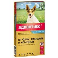 Капли Байер Адвантикс для собак 4-10кг от блох,клещей 1пип*1мл
