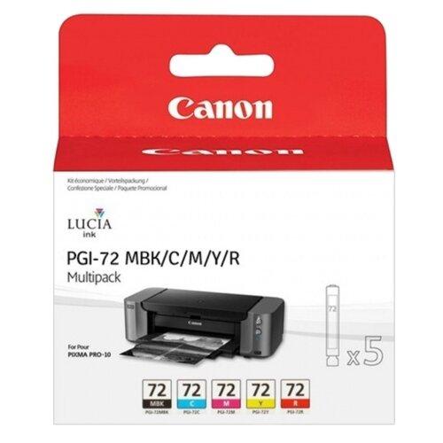 Фото - Набор картриджей Canon PGI-72 MBK/C/M/Y/R (6402B009) r o c s зубочистки джордан карманная упаковка 100 шт