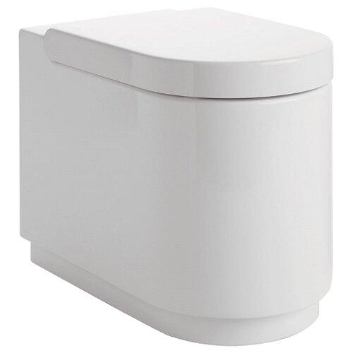 Чаша унитаза напольная Ideal STANDARD Moments K312801 (с сиденьем, микролифт) с горизонтальным выпуском чаша унитаза подвесная gustavsberg hygienic flush wwc 5g84hr01 с сиденьем микролифт с горизонтальным выпуском