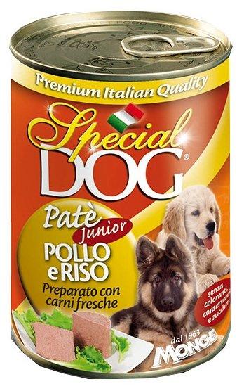 Корм для собак Special Dog Паштет для щенков Курица с рисом