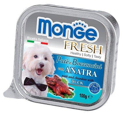 Корм для собак Monge Fresh – Нежный паштет для собак из утки