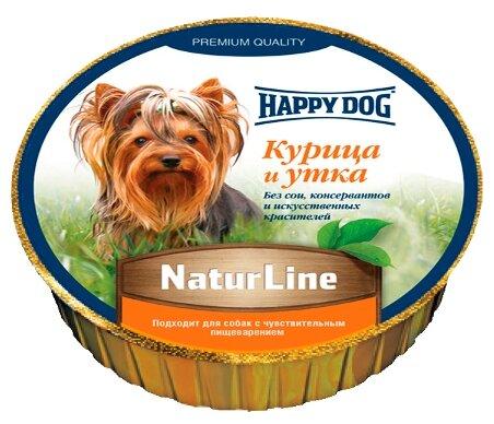 Корм для собак Happy Dog NaturLine утка, курица 125г