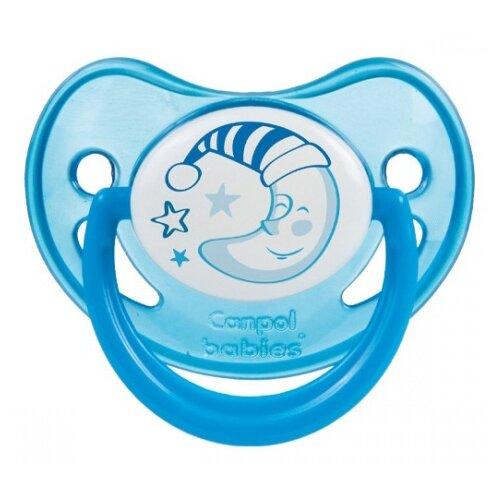 Купить Пустышка силиконовая ортодонтическая Canpol Babies Night Dreams 0-6 м (1 шт.) синий, Пустышки и аксессуары