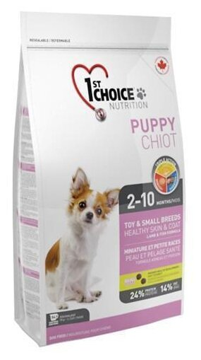 Корм для собак 1st Choice Healthy Skin and Coat TOY and SMALL BREEDS for PUPPIES