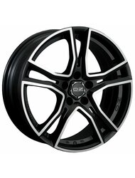 Диск колесный OZ Adrenalina 8x17/5x114.3 D75 ET40 Matt black diamond cut - фото 1
