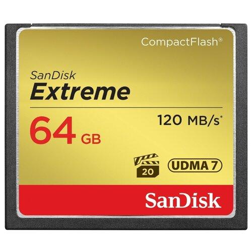 Карта памяти SanDisk Extreme CompactFlash 120MB/s 64GBКарты памяти<br>