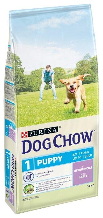 Корм для щенков DOG CHOW ягненок 2шт. х 14 кг