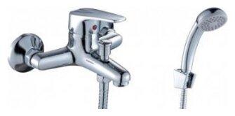 Однорычажный смеситель для ванны с душем Rossinka Silvermix D40-31