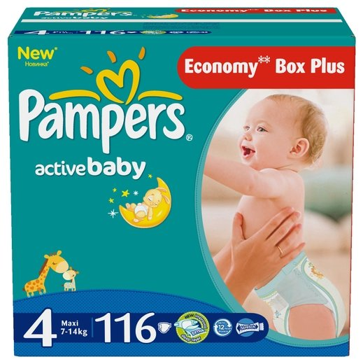 Pampers Active Baby 4 (7-14 кг)