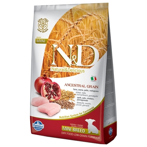 Корм для собак Farmina N&D Low-Grain Canine Chicken & Pomegranate Puppy Mini (12 кг)