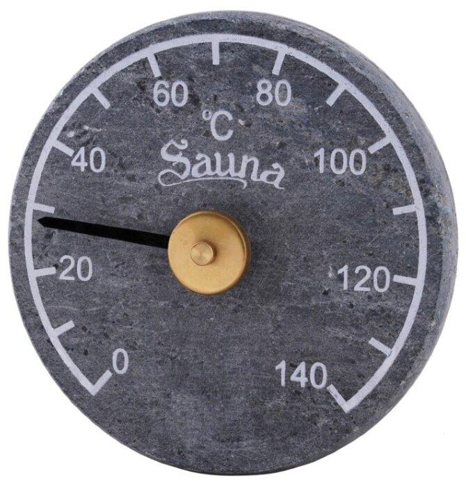 Термометр для бани и сауны Sawo 290-TR, круглой формы, материал: талькохлорит, Sawo (Саво)