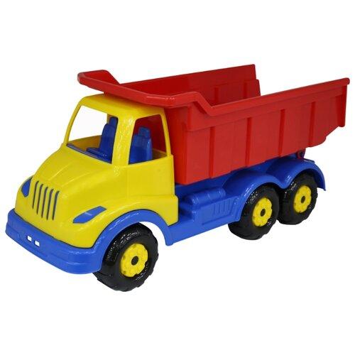 Купить Грузовик Полесье Муромец (44112) 44 см красный/синий/желтый, Машинки и техника