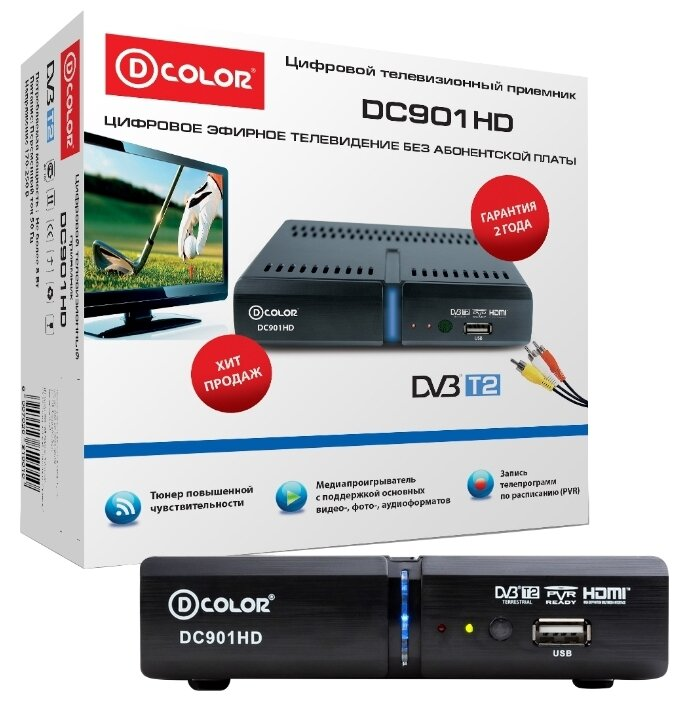 D-COLOR TV-тюнер D-COLOR DC901HD
